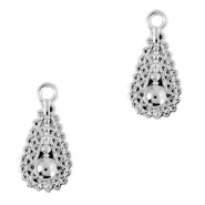 DQ European metal charms drop Antique Silver (nickel free)
