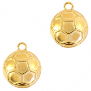 DQ European metal charms ball 18mm Gold (nickel free)