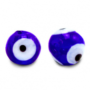 6 mm glass beads Evil Eye Cobalt Blue