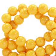 4 mm glass beads opaque Spectra Yellow