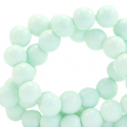 8 mm glass beads opaque Soothing Sea Blue