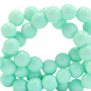 8 mm glass beads opaque Mint Turquoise