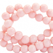 8 mm glass beads opaque Blossom Pink
