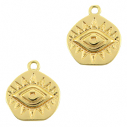 Brass TQ metal charms Eye of Providence Gold