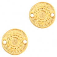 DQ European metal charms connector Ethnic with setting for SS20 flatback Gold (nickel free)