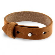 Cuoio bracelet leather 15 mm for 20 mm cabochon Saddle Brown