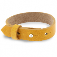 Cuoio bracelet leather 15 mm for 20 mm cabochon Honey Yellow