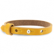 Cuoio bracelet leather 8 mm for 12 mm cabochon Honey Yellow
