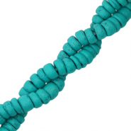 Coconut beads disc 6mm Viridian Green