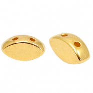 DQ European metal duo beads oval Gold (nickel free)