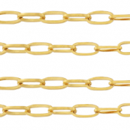 Stainless Steel findings belcher chain anchor cable links Gold