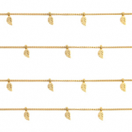 Stainless steel findings belcher chain feather Gold