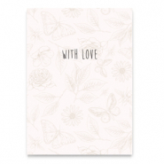 "Jewellery cards ""With love"" Beige"