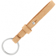 Cuoio keychain 8mm Toasted Nut Brown