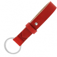 Cuoio keychain 15mm Ruby Red