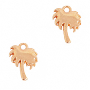 DQ European metal charms palmtree Rose Gold (nickel free)