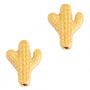 DQ European metal beads cactus Gold (nickel free)