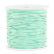 Macramé bead cord 0.8mm Soft Turquoise Green