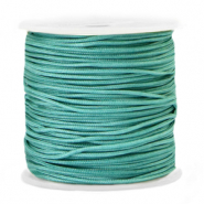 Macramé bead cord 1.5mm Grayed Jade Blue
