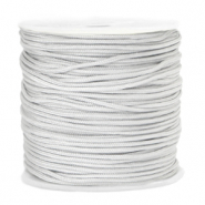 Macramé bead cord 1.5mm Moonbeam Grey