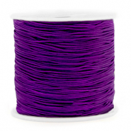 Macramé bead cord 0.8mm Petunia Purple