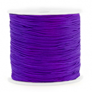 Macramé bead cord 0.8mm Electric Purple