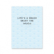 "Jewellery cards ""life's a beach…"" Light Blue"