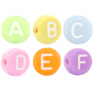 Acrylic letter beads mix Multi Colour