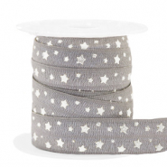 Elastic ribbon stars Taupe-Silver