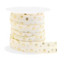 Elastic ribbon stars Silk White-Gold