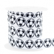Elastic ribbon football White-Black