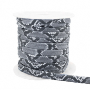 Stitched elastic ribbon snake Grey