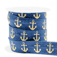 Elastic ribbon anchor Blue-Gold
