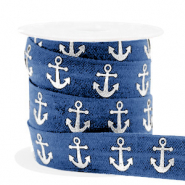 Elastic ribbon anchor Blue-Silver