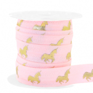 Elastic ribbon unicorn Light Pink-Gold