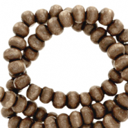 Wooden beads round 6mm Alcazar Brown