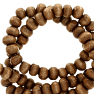 Wooden beads round 8mm Tobacco Brown