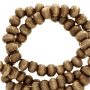 Wooden beads round 4mm Mandora Brown