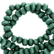 Wooden beads round 8mm Bistro Green