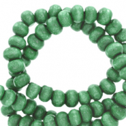 Wooden beads round 4mm Basil Green