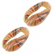 Shell beads specials Cowrie Stripes Multicolour
