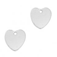 925 Silver charms heart Silver