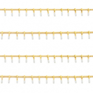 Stainless steel findings belcher chain spike Gold-White