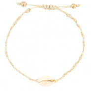 Ready-made Bracelets Cowrie braided Sand Beige