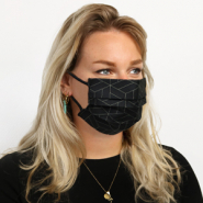 Non-medical face coverings geometric Black-Gold