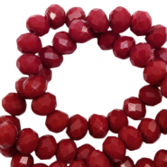 Top faceted beads 6x4mm disc Roan Rouge-Pearl Shine Coating
