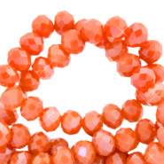 Top faceted beads 3x2mm disc Spicy Orange-Pearl Shine Coating