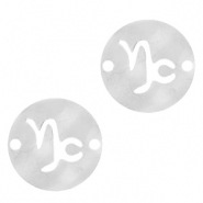 Stainless steel charms/connector zodiac sign Capricorn Silver
