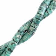 Natural stone beads disc 4mm Marble Reef Green