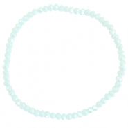 Top faceted bracelets 3x2mm Clearwater Blue-Pearl Shine Coating